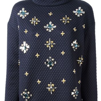 Tory Burch embellished quilted sweater