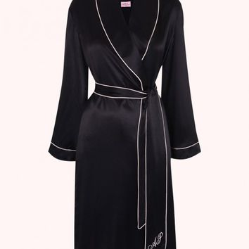 Classic Dressing Gown Black