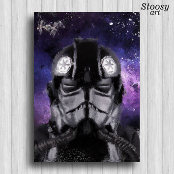 tie fighter pilot print Imperial starwars poster
