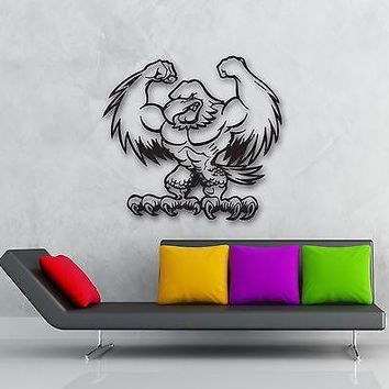 Wall Stickers Vinyl Decal Muscled Eagle Bird Decor for Kids Room Baby Unique Gift (ig890)
