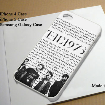 The1975 Lyric inspired Best Seller Phone Case on Etsy for iPhone 4, iPhone 4s, iPhone 5 , Samsung Galaxy s3 and Samsung Galaxy s4