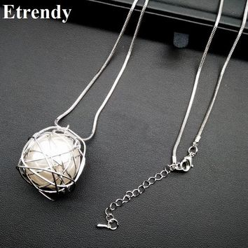 Simple Chain Modern Girl New Long Necklace Women Pendants Fashion Jewelry wholesale Cute Gift