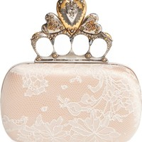 Alexander McQueen Lace Knuckle Clasp Box Clutch | Nordstrom