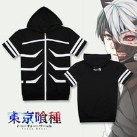 Tokyo Ghoul Fashion Casual T-Shirt Skeleton Style