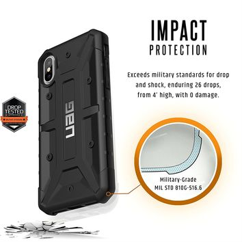 UAG iPhone X Pathfinder Feather-Light Rugged [BLACK] Military Drop Tested iPhone Case