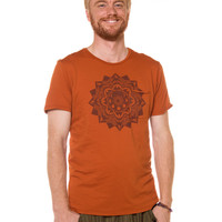 NEW! Mountain Mandala Men's Organic Cotton Pocket T-Shirt