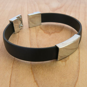 Men Bracelet - Men Vegan Bracelet - Men Geometric Bracelet - Men Jewelry - Men Gift - Boyfriend Gift - Guys Bracelet - Guys Jewelry