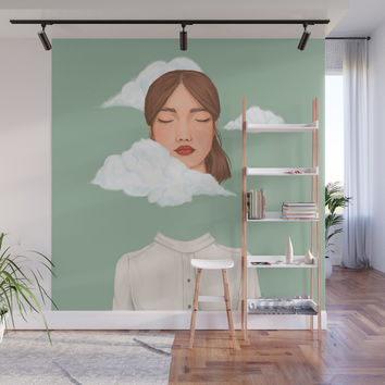Head in the Clouds Wall Mural by marylobs
