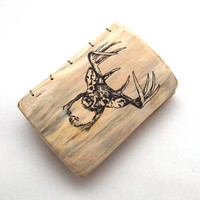 Deer Journal Personalized Wood Sketchbook Scrapbook Notebook - Gift for Him