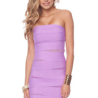 What a Mesh Bandage Dress in Lavender :: tobi