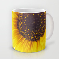 Three Sunflowers  Mug by Tanja Riedel