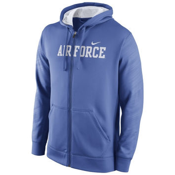 Air Force Falcons Nike Warp KO Full Zip Performance Hoodie - Royal Blue