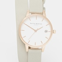 Olivia Burton Dandy Wrap Grey Midi Dial Watch