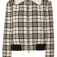 Carven Tartan wool-blend jacket – 55% at THE OUTNET.COM