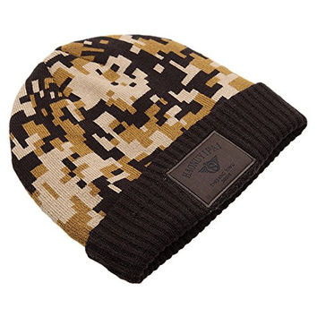 BB Gossip Men's Wool Knitted Thinsulate Winter Hat with Patterns Fashion Coffee