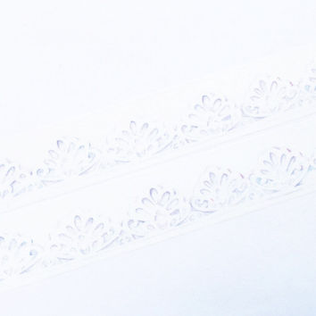 Basic tape - White lace washi tape (T00166)