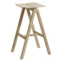Copenhague Bar Stool Matt Lacquered Beech, High by HAY