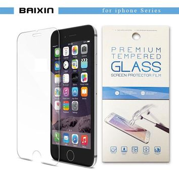 "baixin Tempered glass For iphone X 8 4s 5 5s SE 6 6s 7 Toughened Protective screen protector for iphone 6s 8 7plus 5.5""+Package"