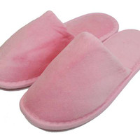 Terry Closed Toe Slippers - Pink
