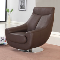Lori Swivel Armchair Chocolate