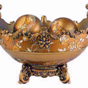 Victorian Rose Bowl With Balls