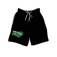 Vote Green Party - Marijuana Adult Lounge Shorts