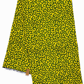 Ankara african print Fabric/ African fabric by the yard/ Wax print fabric/ African clothing/ Ankara fabric by the yard/ yellow green