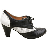 Jumpin' Jitterbug Heeled Oxford Saddle Shoes