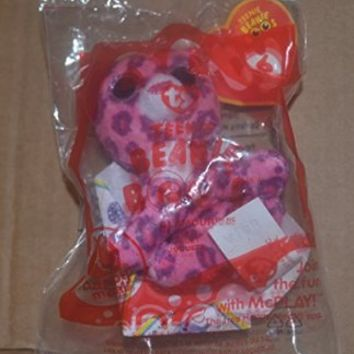 Rare Mcdonald's 2014 Ty Teenie Beanie Boo's #6 Glamour (Pink & Purple Leopard) Happy Meal Toy