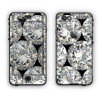 The Diamond Pattern Apple iPhone 6 Plus LifeProof Nuud Case Skin Set