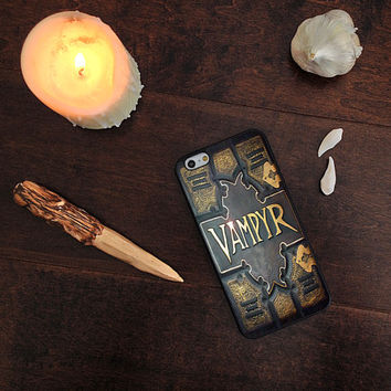 Vampyr Book, Buffy Inspired, Custom Phone Case for iPhone 4/4s, 5/5s, 6/6s, 6/6s+ and iPod Touch 5