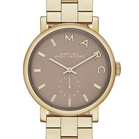 Women's MARC BY MARC JACOBS 'Baker' Bracelet Watch, 37mm - Gold/ Gravel Grey