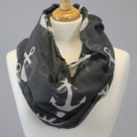 Infinity Anchor Scarf - Black