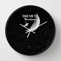 Take Me To Neverland Wall Clock by Amber Rose | Society6