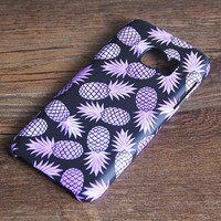 Purple Pineapple Fruit Galaxy S7 Edge S7 SE Case Galaxy S6 edge+ S5 S4 Samsung Note 5 Cover S7-474