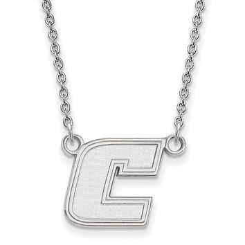 NCAA 10k White Gold U of Tennessee Chattanooga Sm 'C' Pendant Necklace
