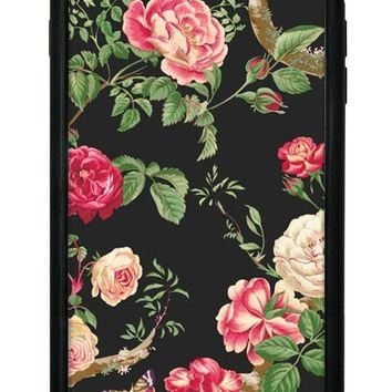 Black Floral iPhone 6/7/8 Plus Case