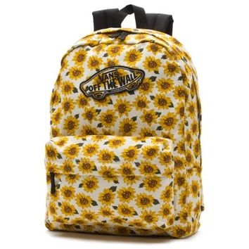 Vans Realm Sunflower Backpack (Sunflower (True White))