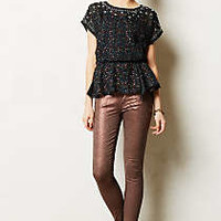Mother Looker Coated Rust Jeans