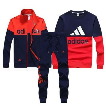 DCKI72 Trendsetter Adidas Women Men Top Sweater Pullover Cardigan Jacket Coat Pants Trousers Set Three-Piece
