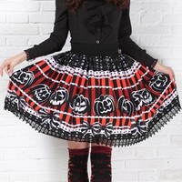 Haunted Halloween Pumpkin Skirt - Up To 4XL!