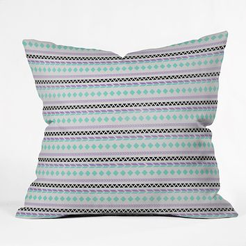 Allyson Johnson Native American Pattern Throw Pillow