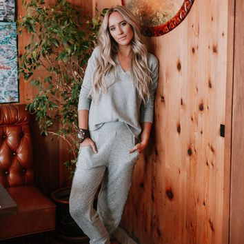 Cozy Up With Me Pullover and Pant OOTW - Gray