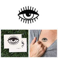Monocle - temporary tattoo (Set of 2)