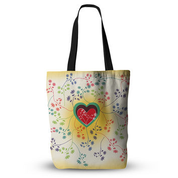 "Famenxt ""Romantic"" Yellow Heart Everything Tote Bag"