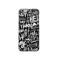 P2744 Hey Hi Hello Pattern Phone Case For IPHONE 6 PLUS