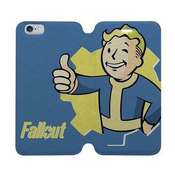 FALLOUT Wallet Case for iPhone 4/4S 5/5S/SE 5C 6/6S Plus Samsung Galaxy S4 S5 S6 Edge Note 3 4 5