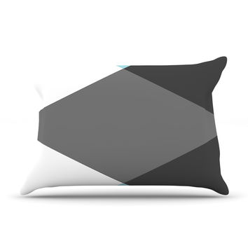 "Suzanne Carter ""Diamonds"" Gray Blue Pillow Case"