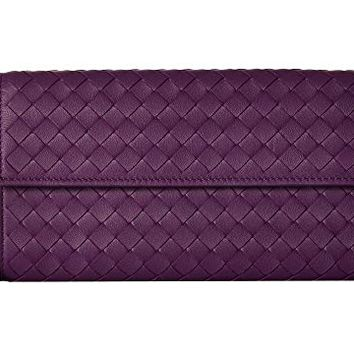 Bottega Veneta Intrecciato Flap Coin Purse Wallet