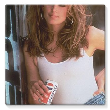 Cindy Crawford Pepsi *online exclusive* stretched canvas